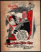 GRAND ORDER OF WATER RATS ANNUAL BALL 1960 PROGRAMME KING RAT ARTHUR SCOTT DORCHESTER HOTEL LONDON