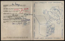 CAMBRIDGE UNIVERSITY LIGHT ENTERTAINMENT SOCIETY SUMMER TOUR 1962 PROGRAMME