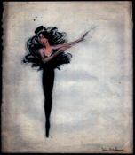 SKETCH DRAWING OF BALLET DANCERS COSTUMES