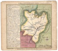 TWO BRITISH COUNTY MAP COLOURED PRINTS OF HUNTINGDONSHIRE