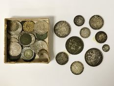 SELECTION OF VARIOUS SILVER COINS