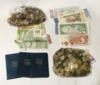 SELECTION OF VARIOUS WORLD BANKNOTES & COINS