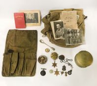 MILITARIA, TRENCH ART, MEDALS, ARP SILVER BADGE ETC