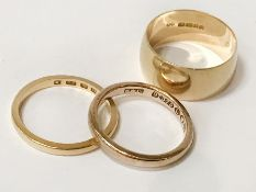 22CT, 18CT & 9CT GOLD WEDDING BANDS