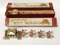 TWO CORONATION COACHES IN BOXES