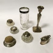 COLLECTION OF HM SILVER ITEMS