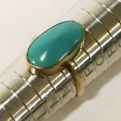 15CT GOLD & TURQUOISE RING