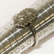 9CT GOLD DIAMOND ART DECO RING