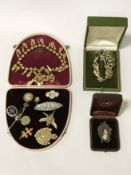 VINTAGE FRENCH COSTUME JEWELLERY - SOME GOLD CONTENT