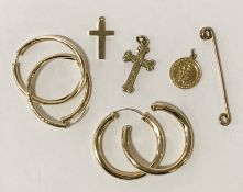 8 PIECES OF 9CT GOLD JEWELLERY