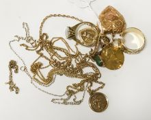 COLLECTION OF MOSTLY GOLD JEWELLERY