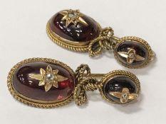 PAIR OF BEJEWELLED DROP EARRINGS WITH DIAMONDS