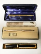 CROSS PEN, PARKER PEN WITH 14K NIB & ONE OTHER