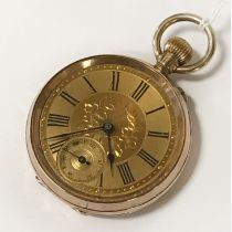 14CT CASED FOB WATCH
