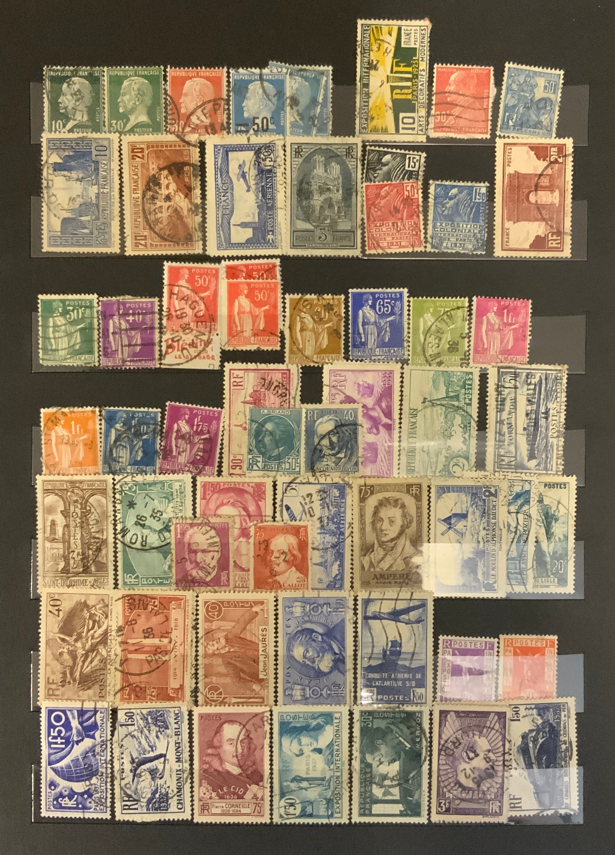 STOCKBOOK WITH STAMPS FROM VARIOUS COUNTRIES INCLUDING AUSTRIA, BELGIUM, FRANCE
