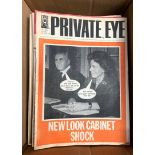 TWO BOXES OF PRIVATE EYE MAGAZINES