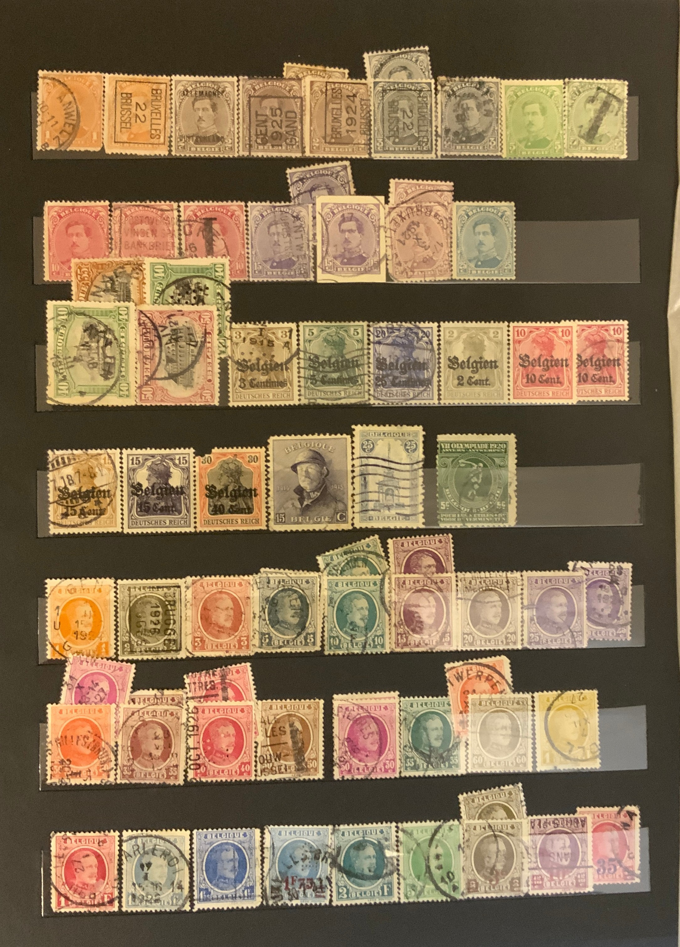 STOCKBOOK WITH STAMPS FROM VARIOUS COUNTRIES INCLUDING AUSTRIA, BELGIUM, FRANCE - Image 11 of 16