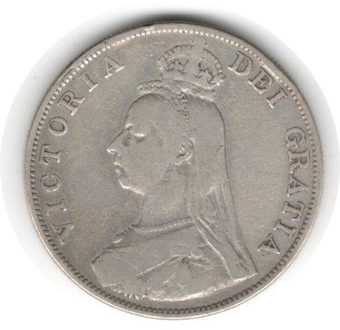 LARGE SILVER COIN 1889 QUEEN VICTORIA