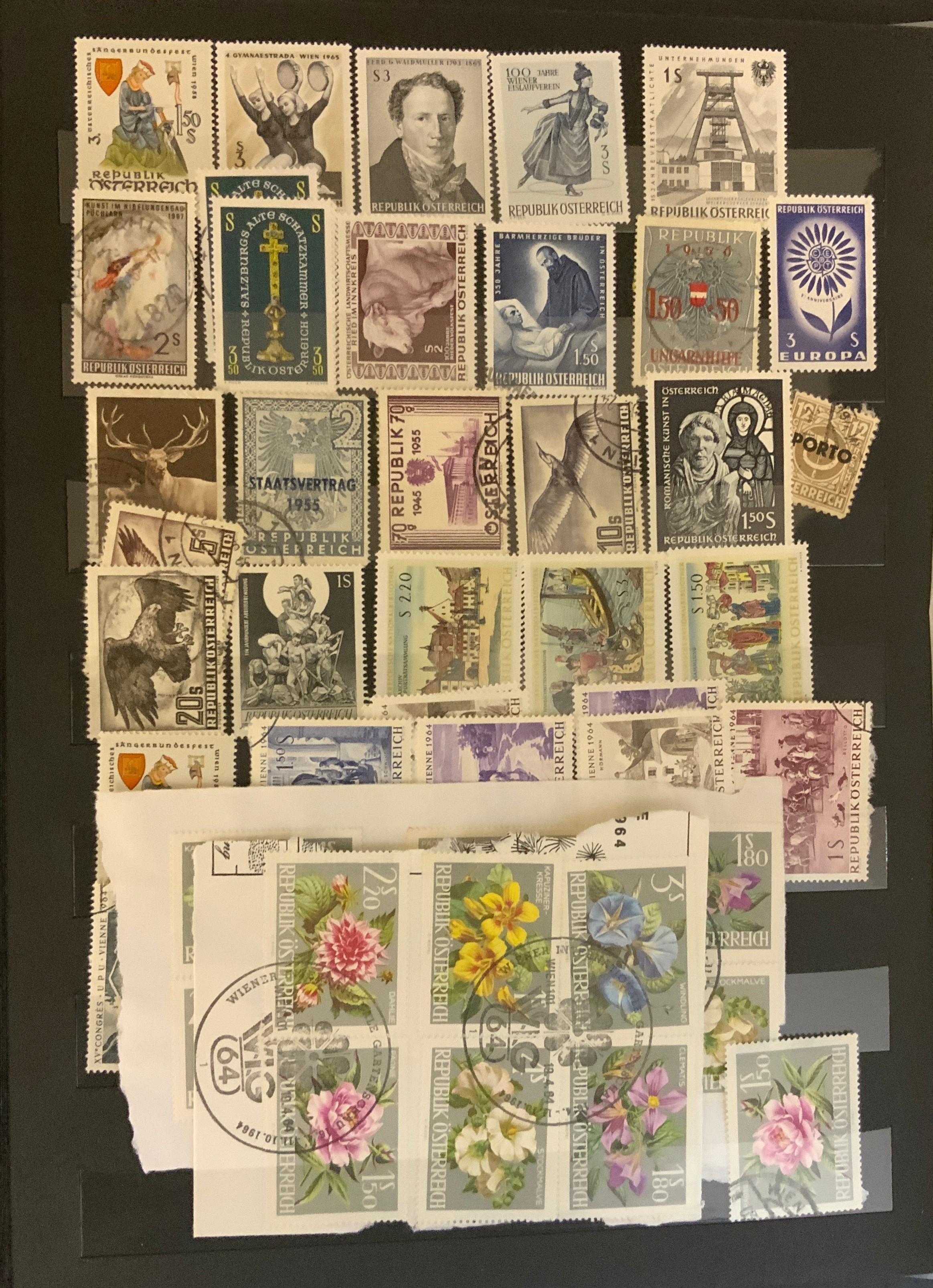 STOCKBOOK WITH STAMPS FROM VARIOUS COUNTRIES INCLUDING AUSTRIA, BELGIUM, FRANCE - Image 14 of 16