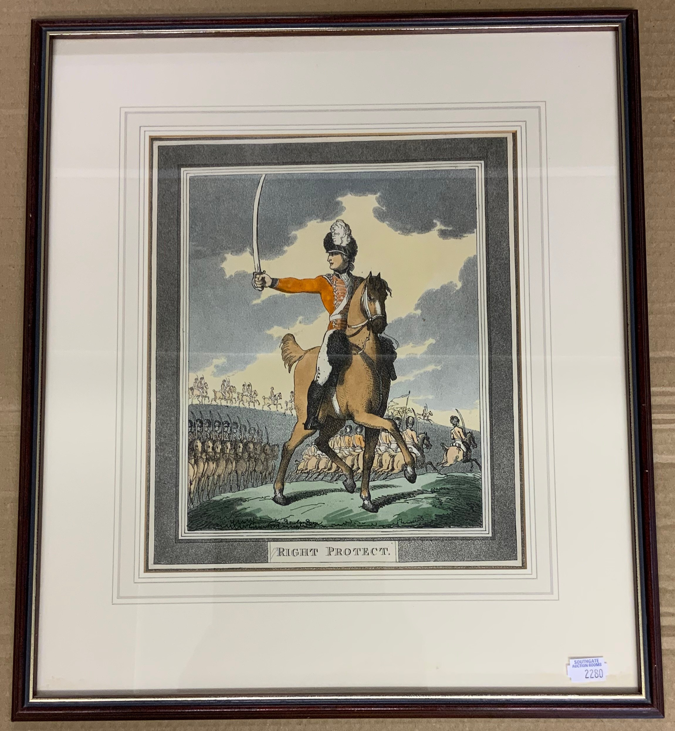 FRAMED RIGHT PROTECT PRINT BY THOMAS ROWLANDSON