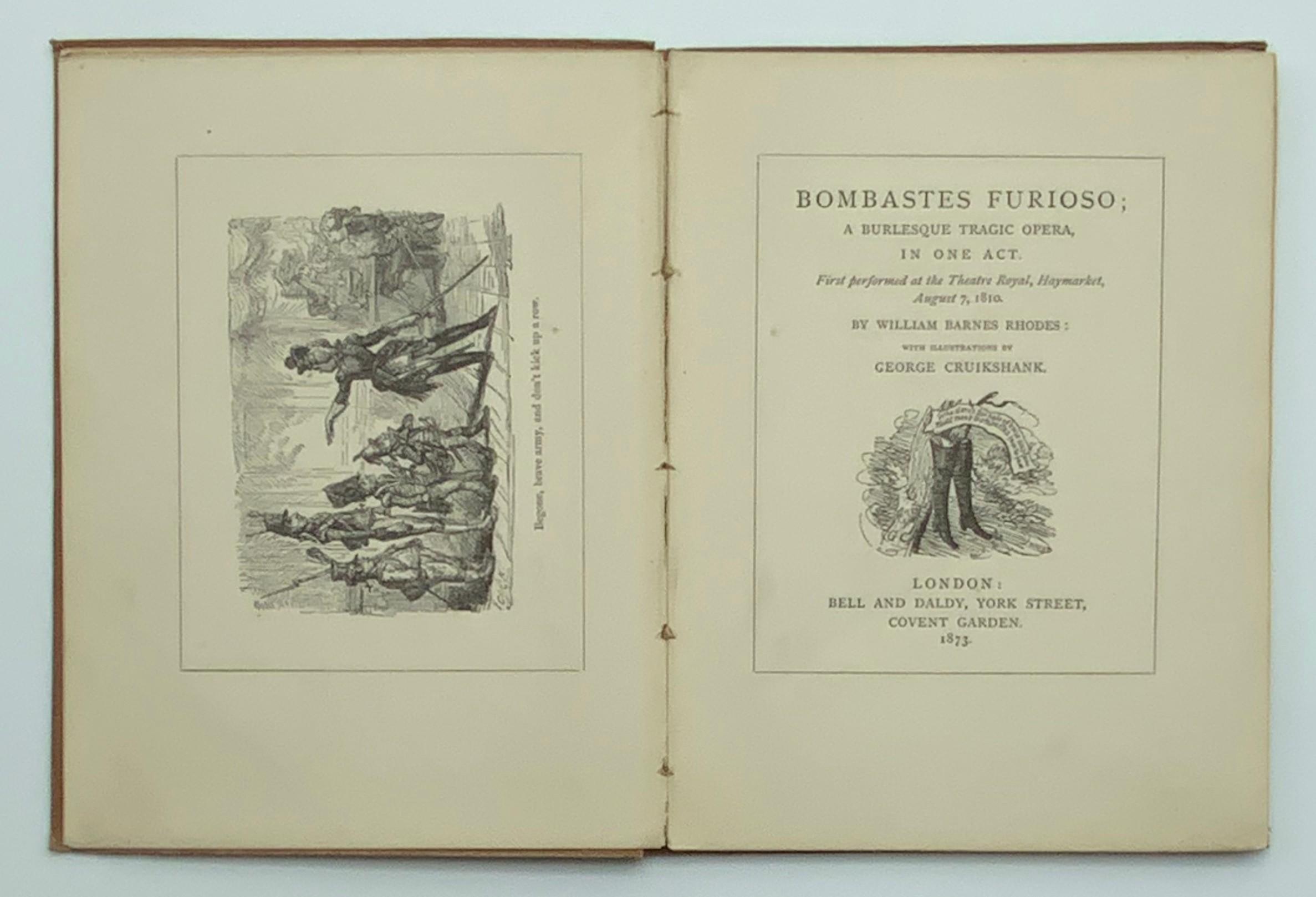 1873 BOMBASTES FURIOSO ILLUSTRATED BY GEORGE CRUIKSHANK - Image 3 of 5