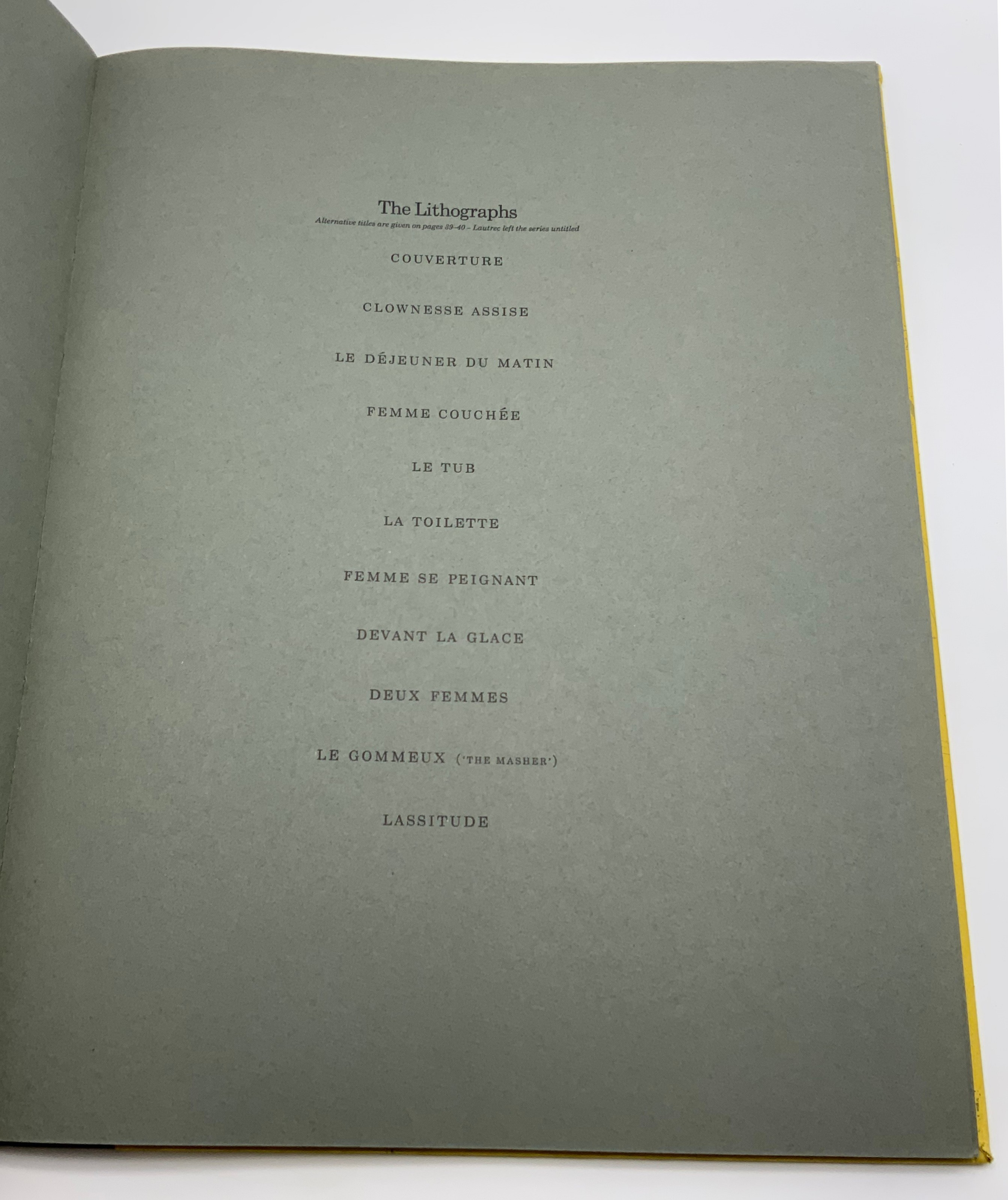 ELLES THE TOULOUSE-LAUTREC CIRCLE, 1969 HARDCOVER 1ST EDITION LIMITED EDITION - Image 3 of 6