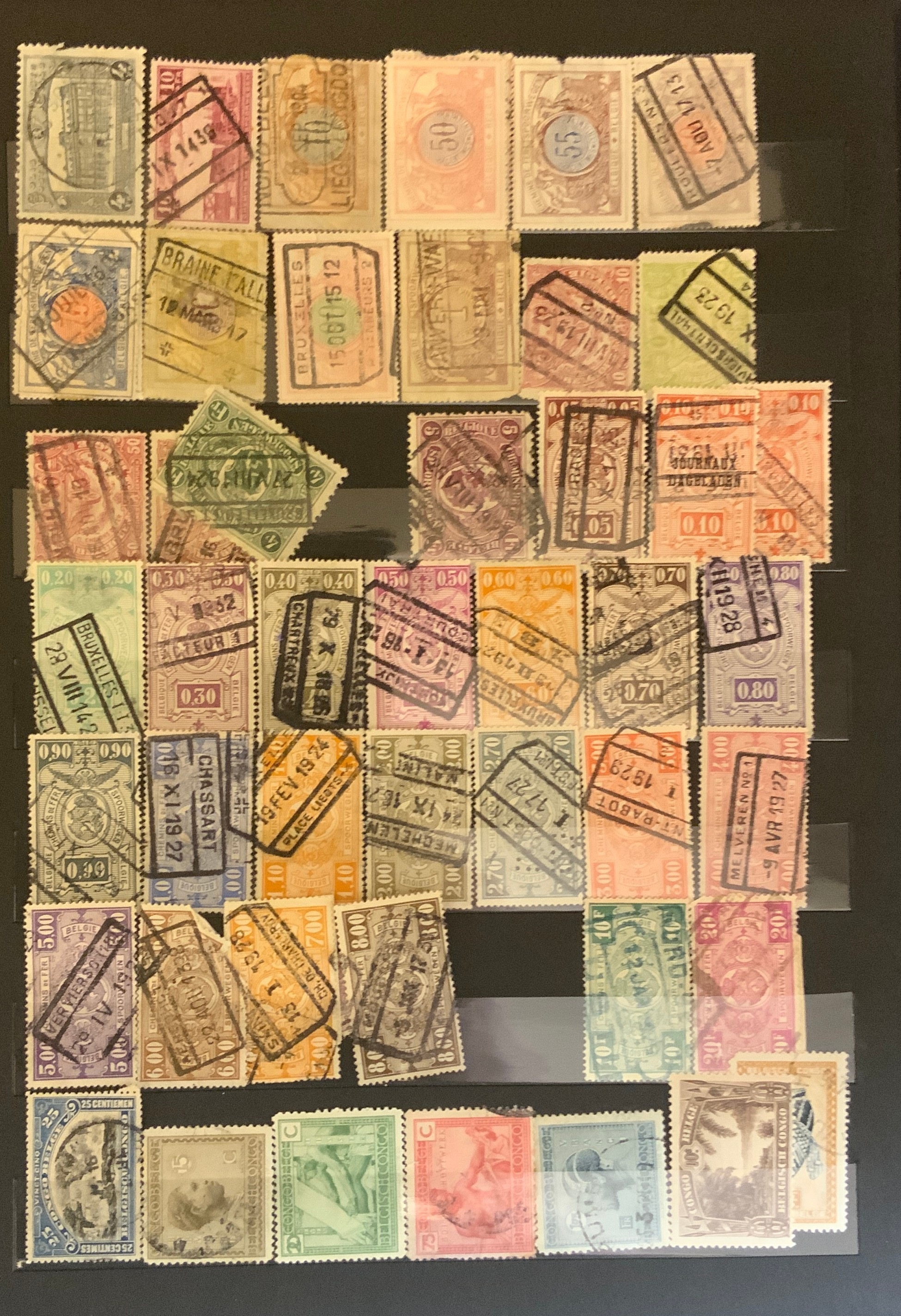 STOCKBOOK WITH STAMPS FROM VARIOUS COUNTRIES INCLUDING AUSTRIA, BELGIUM, FRANCE - Image 8 of 16