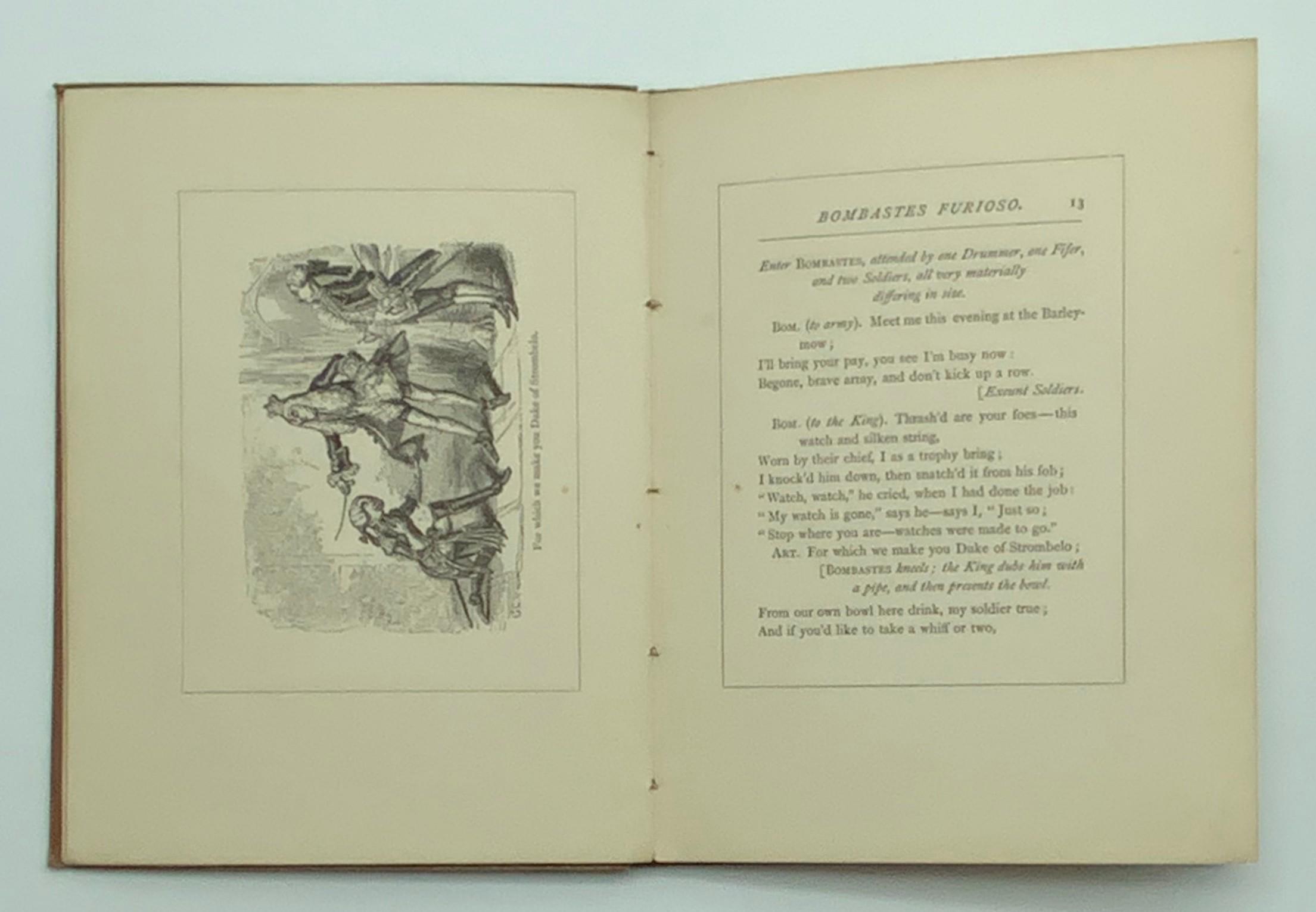 1873 BOMBASTES FURIOSO ILLUSTRATED BY GEORGE CRUIKSHANK - Image 5 of 5