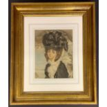 FRAMED PRINT OF A YOUNG LADY