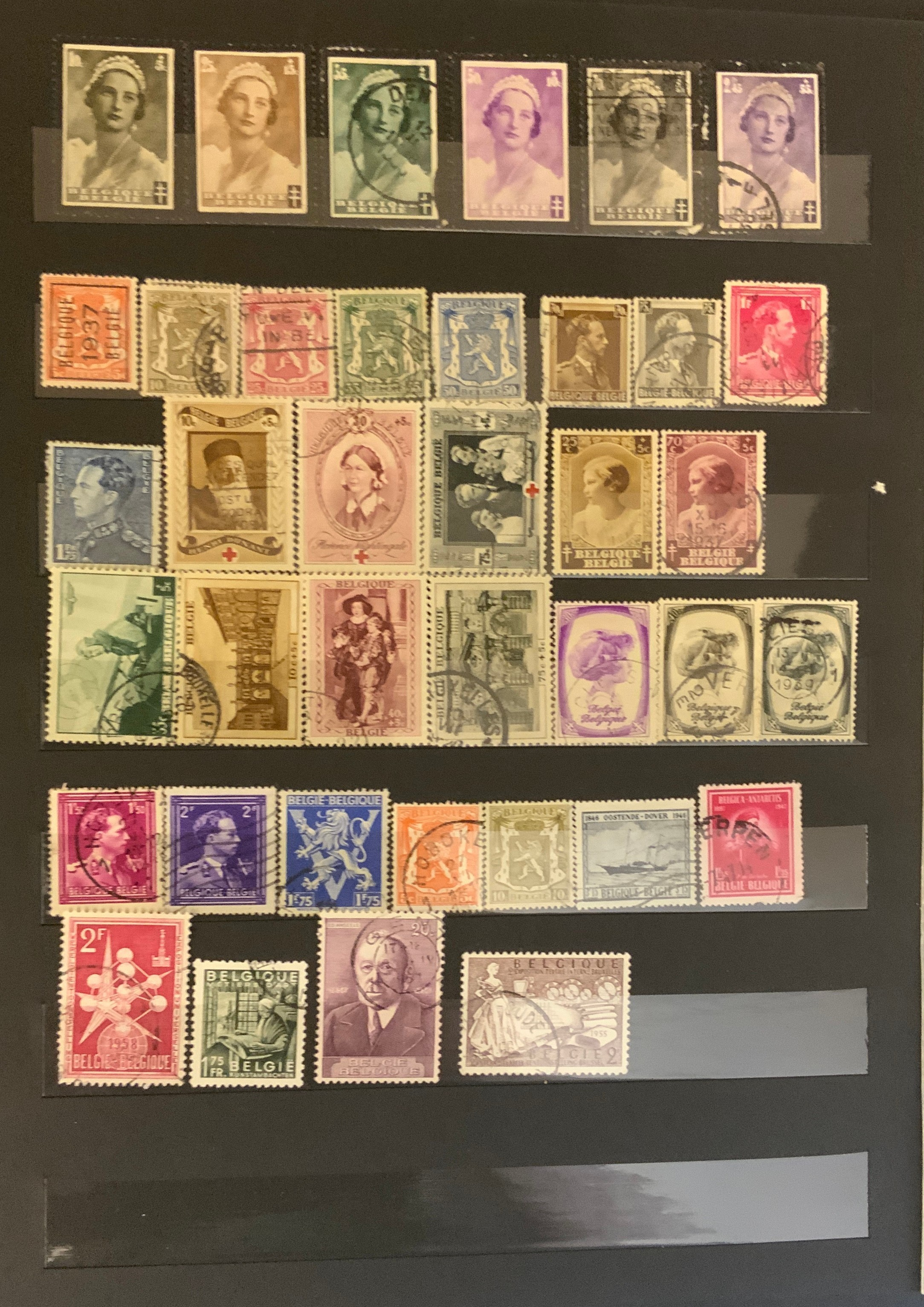 STOCKBOOK WITH STAMPS FROM VARIOUS COUNTRIES INCLUDING AUSTRIA, BELGIUM, FRANCE - Image 9 of 16