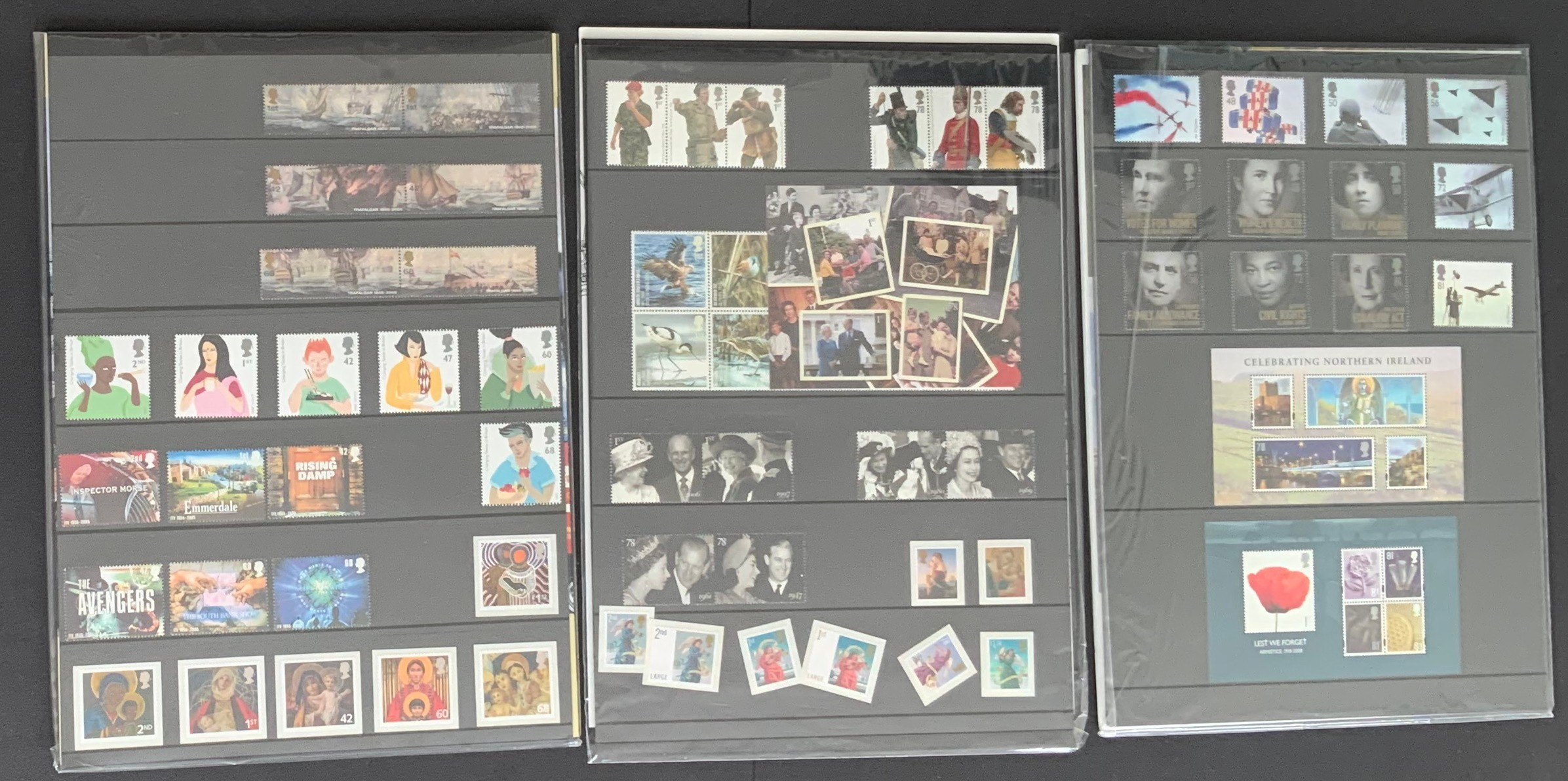 ROYAL MAIL SELECTION OF THREE YEAR PACK SETS OF STAMPS 2005 2007 2008