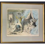 FRAMED REPRODUCTION OF THE MORNING AFTER MARRIAGE BY JAMES GILLRAY