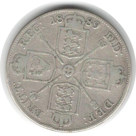 LARGE SILVER COIN 1889 QUEEN VICTORIA - Image 2 of 2