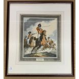 FRAMED GUARD PRINT BY THOMAS ROWLANDSON ACCEPTABLE CONDITION