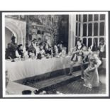PRESS PHOTOGRAPH OF PRIVATE LIFE OF A HENRY VIII FOR NATIONAL FILM ARCHIVE LONDON