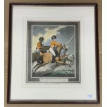 FRAMED OFF SIDE PROTECT, NEW GUARD PRINT BY THOMAS ROWLANDSON