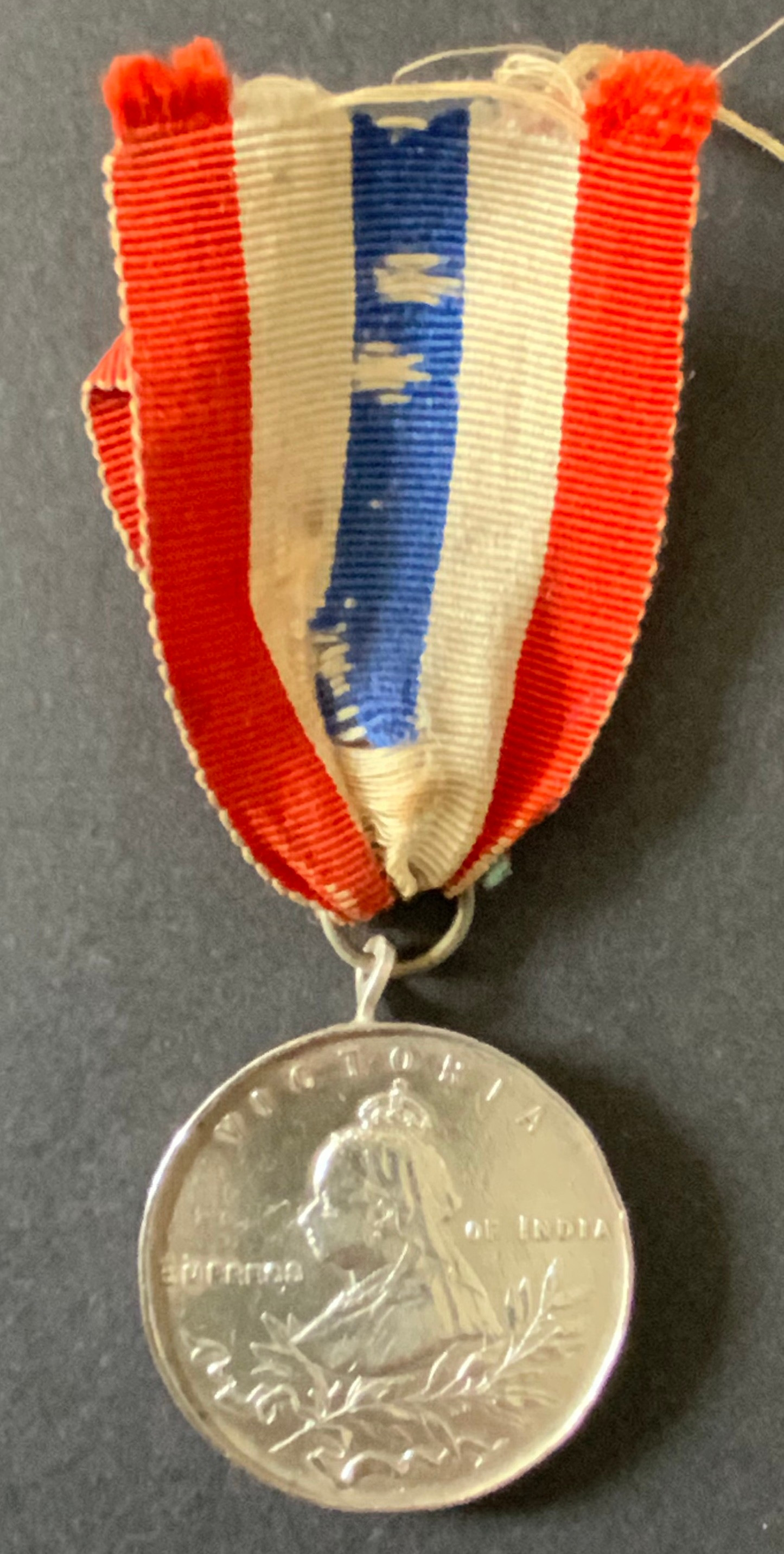 HALLMARKED SILVER MEDAL OF QUEEN VICTORIA EMPRESS OF INDIA (1837-1901)