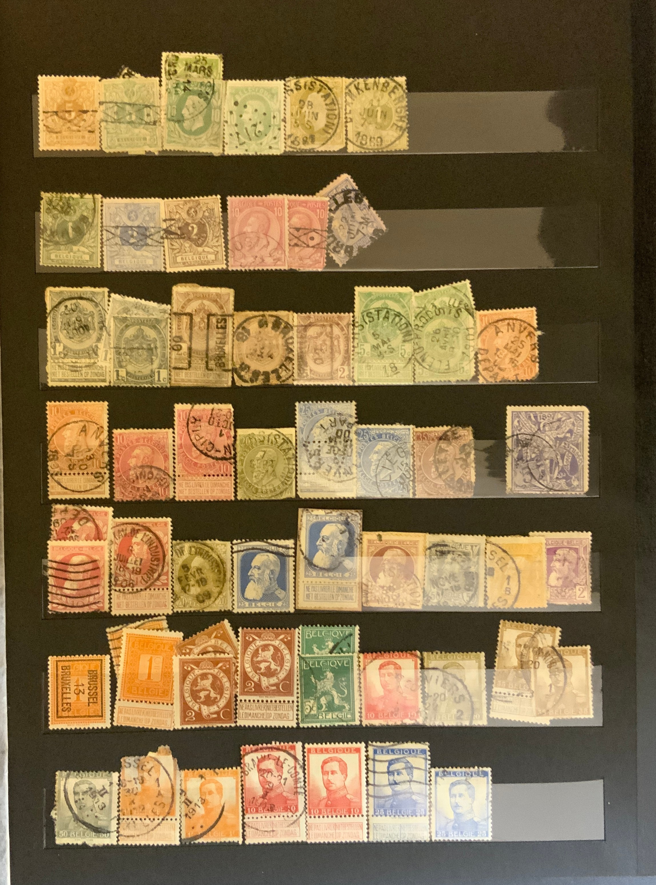 STOCKBOOK WITH STAMPS FROM VARIOUS COUNTRIES INCLUDING AUSTRIA, BELGIUM, FRANCE - Image 12 of 16