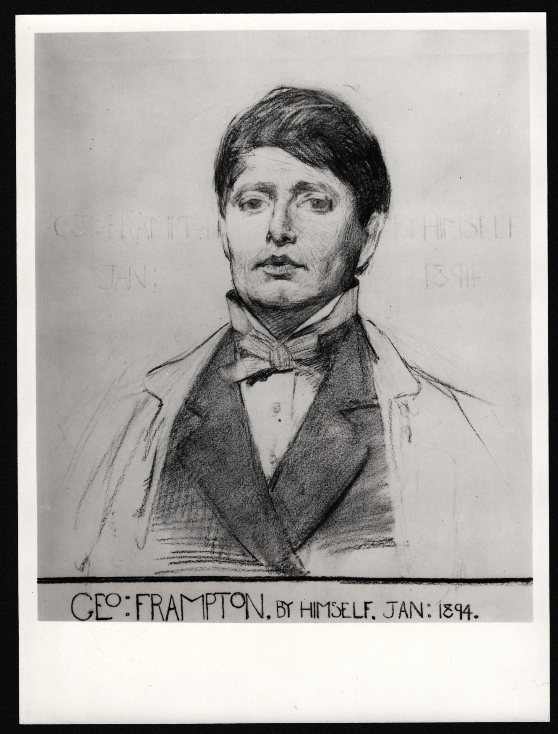PHOTOGRAPH OF DRAWING OF SIR G.H. LEWIS FOR NATIONAL PORTRAIT GALLERY LONDON