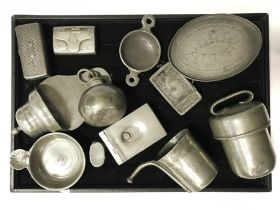 COLLECTION OF VARIOUS METAL & PEWTER ITEMS