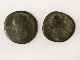 TWO ROMAN COINS