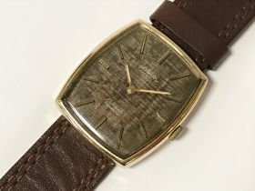 9CT GOLD VINTAGE GENTS ROTARY WRISTWATCH