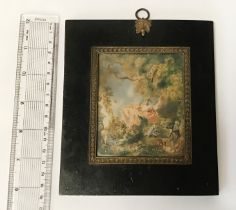19THC HAND PAINTED MINIATURE SIGNED WATTOU