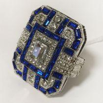 DRESS RING SET BLUE SAPPHIRE - RING M