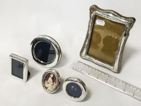 QTY OF SMALL HM SILVER FRAMES