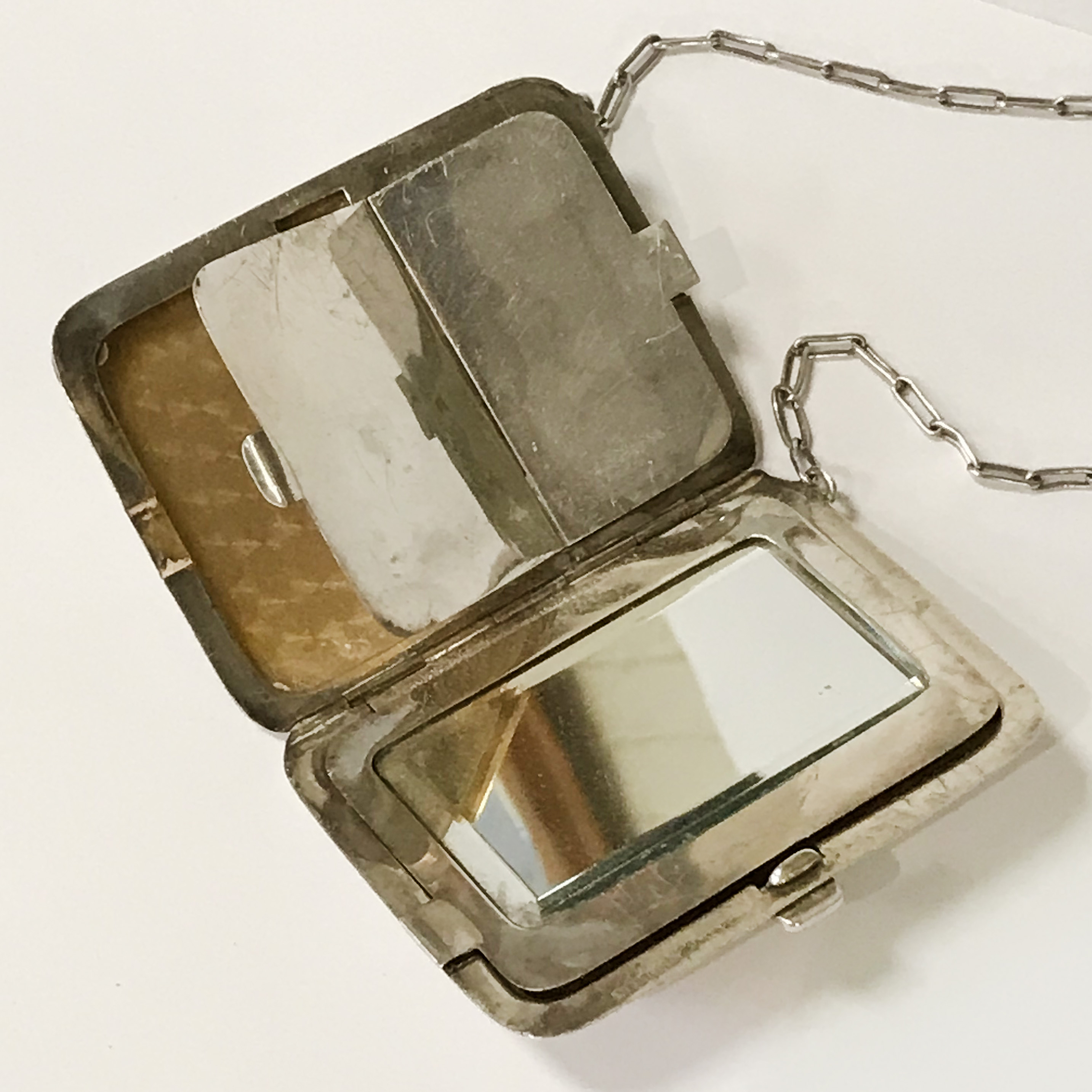 HM SILVER & GOLD INLAID COMPACT - 9CMS X 6.5CMS - Image 6 of 7
