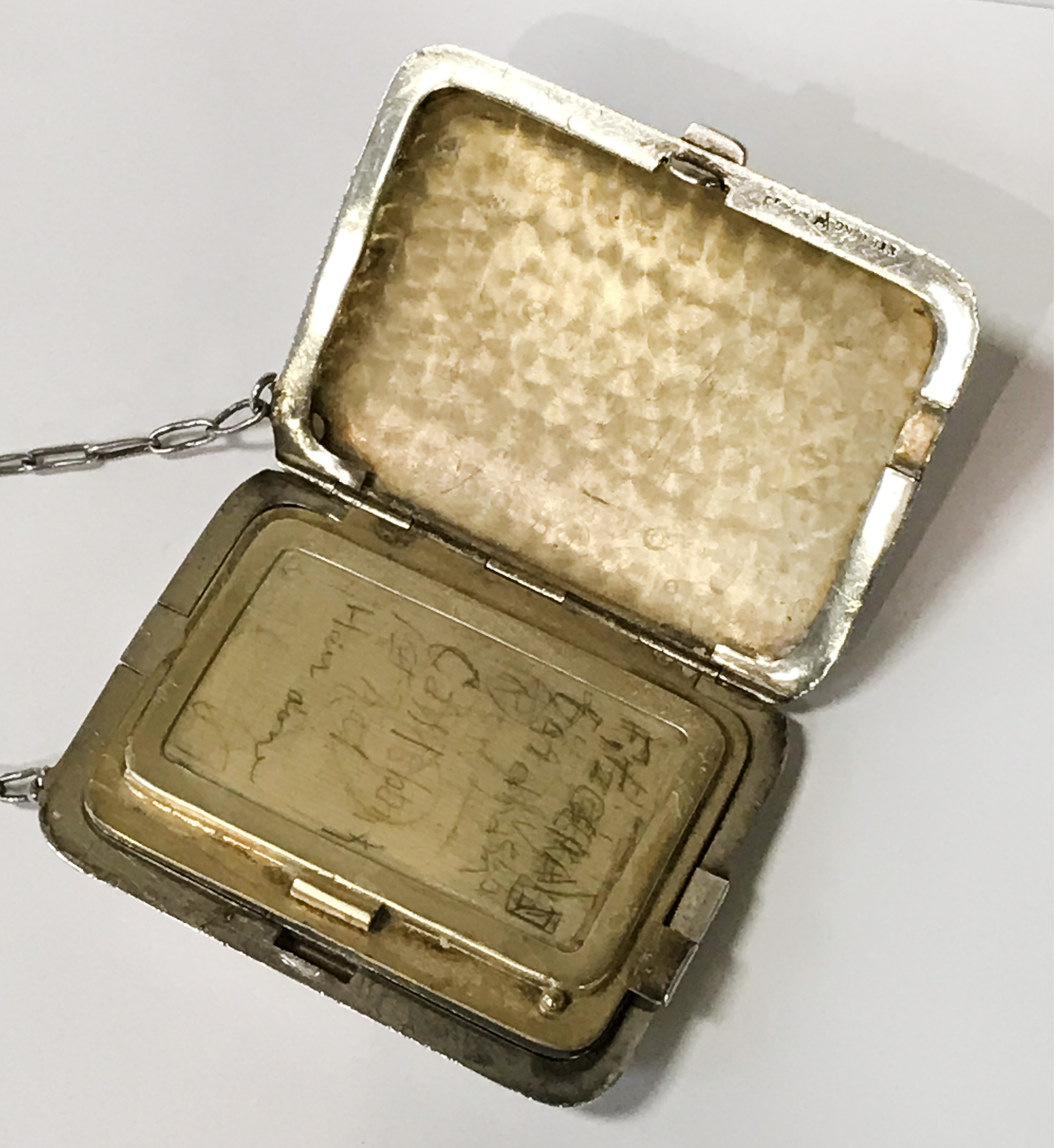 HM SILVER & GOLD INLAID COMPACT - 9CMS X 6.5CMS - Image 5 of 7