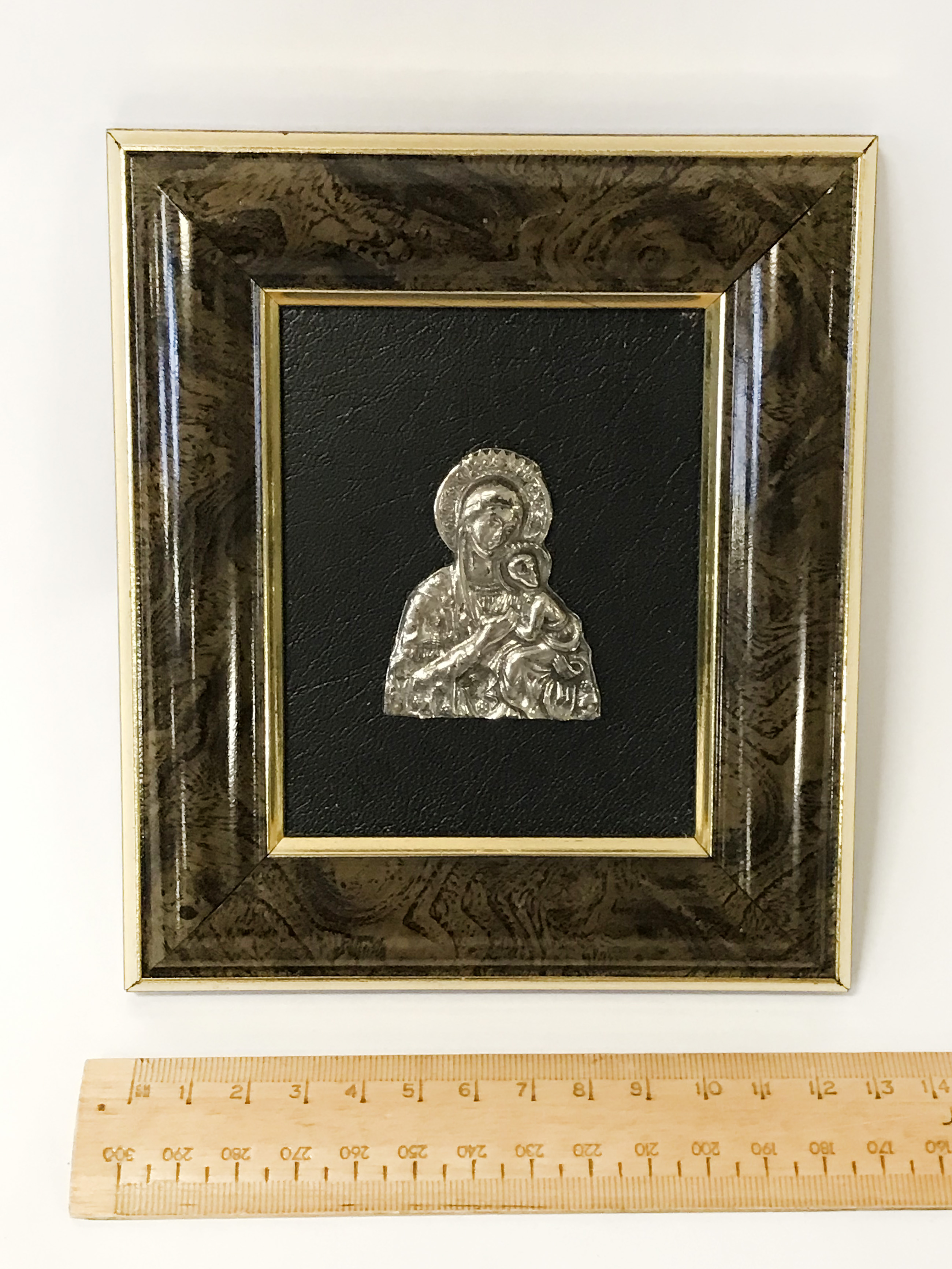 HM SILVER RELIGIOUS PICTURE - 13CMS X 15CMS