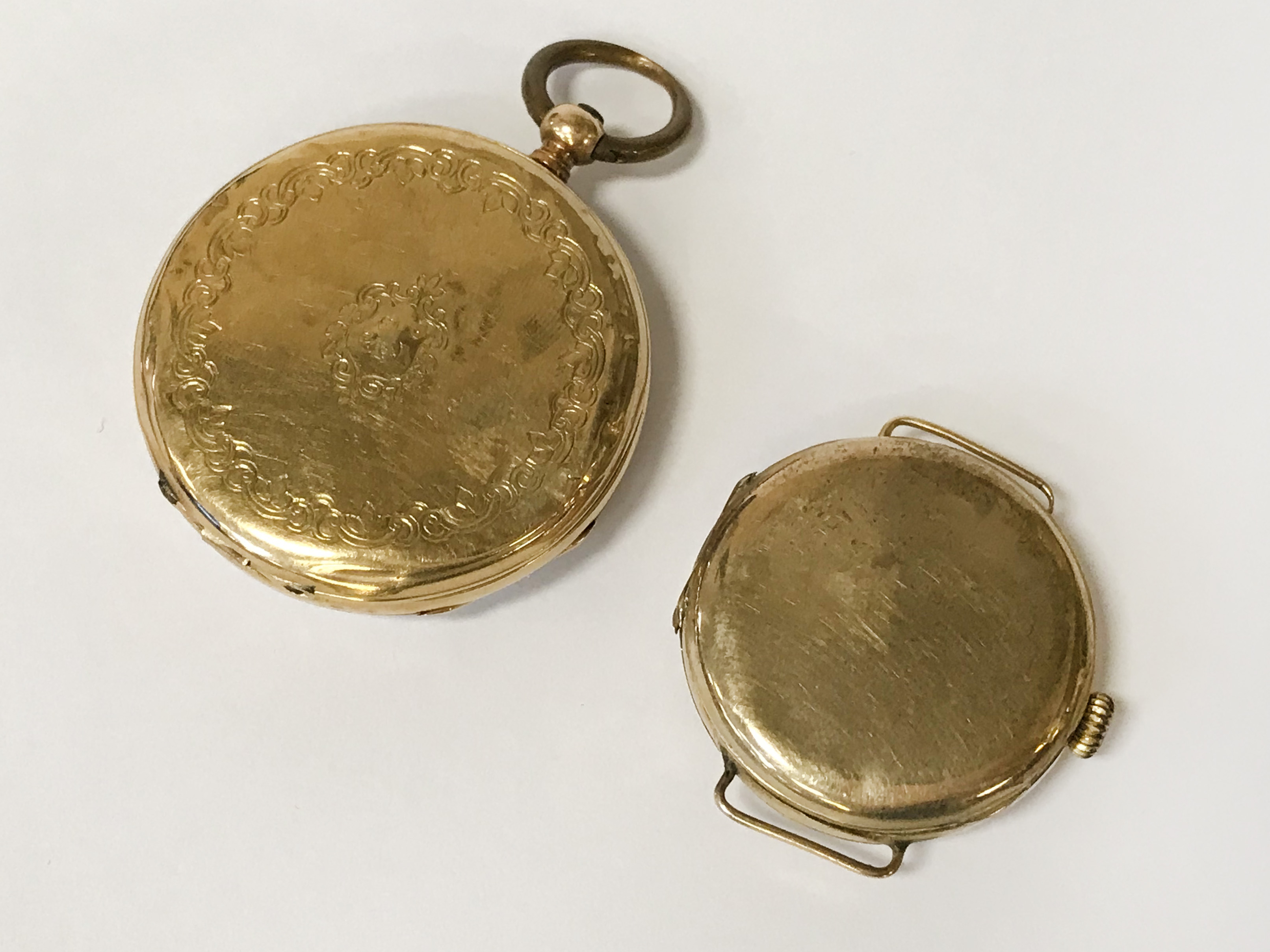TWO GOLD WATCHES - Image 2 of 2
