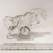 BACCARAT HORSE CLOCK